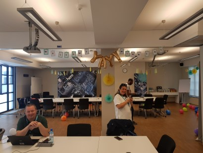 Preparação para a recepção dos Vencedores no Escritório de HERE Berlim
