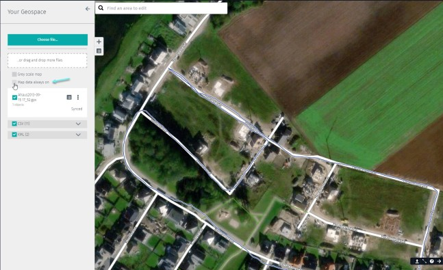 GPX Visibility in Your Geospace